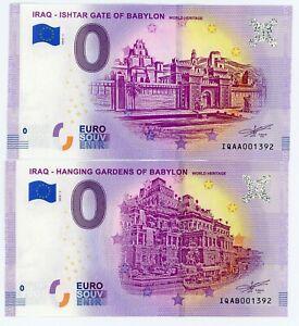 Billet 0 Euro - IRAQ, Ishtar Gate & Hanging gardens of Babylon (N° 1393)  2019-1