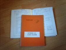 Corpo Riparazione Manuale CITROEN GS Club Saloon