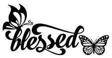 Blessed Butterfly Vinyl Decal Bumper Sticker Christian Car Windows Outdoors
