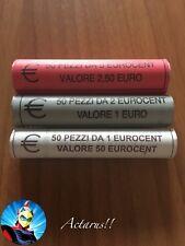 Euro Italia 2016 1 - 2 - 5  Centesimi In Rotolino Rolle Rouleau Cartucho