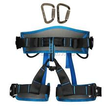 Climbing Harness Seat Belt Sitting Bust Belt + 2pcs 30KN Locking Carabiner
