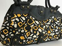 Limited Edition large satchel multi geo print color black brass studs quality