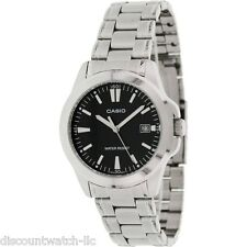 Casio Mens MTP1215A-1A2 Stainless Steel Analog Casual Dress Watch Quartz Black