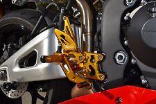 2007-2016 Honda CBR 600RR GOLD Hotbodies MGP Adjustable Rear Sets 2014 2015