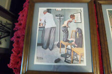 At The Doctors Wood framed Norman Rockwell Print March 15,1958
