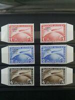 DR Chicagofahrt 1933 + Polarfahrt 1931 ; Mi 496-498,Mi 456-458, Optik postfrisch