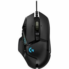 Logitech G502 Hero 16k RGB LED Tunable USB Optical Wired Gaming Mouse - Black