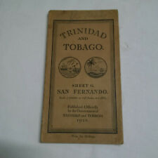 More details for trinidad and tobago map 1926 – rare - published by government of trinidad and to