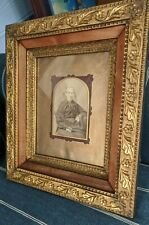 "Antique Gold Gilt Picture Frame For 8x10-Gesso Leaf Flower Design-16x14""-Pretty"