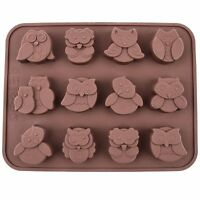 Silicone Chocolate Mould Tray Round Icing - Craft Cake Jelly Baking Ice Owls