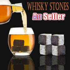 9x Whiskey Wine Stone Ice Cube Reusebale Drink Cooler Whisky Rocks Scotch Party