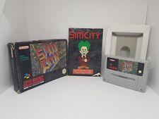 sim city boxed Super Nintendo SNES PAL AUS SELLER