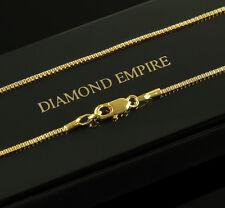 Damen Herren Venezianerkette 50 cm x 1 mm Echt 750 Gold vergoldet UVP: 39€ K1445