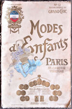 MODES D'ENFANTS - Catalogue GRAND CHIC n° 12, vers 1908. 32 planches couleurs