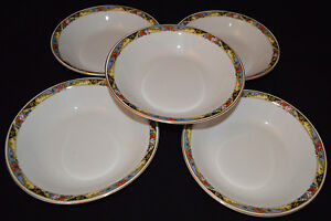 Lot Of (5) TK Thuny Czechoslovakia Bowls