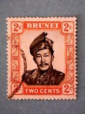 Brunei. QE2 1952 2c Black & Orange. Wmk Mult Script CA. SG101. P13. Used.