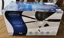 "HARBOR BREEZE MAYFIELD 44"" ANTIQUE BRONZE FINISHED CEILING FAN 0807424 W SHADE"