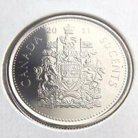 2011 Canada 50 Cents Half Dollar Brilliant Uncirculated Canadian Coin Fifty N559