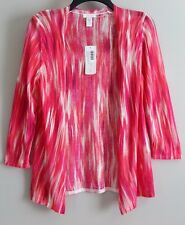 NWT Chico's Pink Combo Blended Waves Cardigan Size 00 (XS) MSRP $99