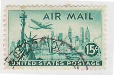 (UST-52) 1947 USA 15c green statue of liberty air mail (M)