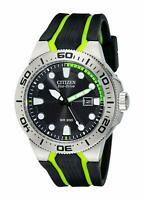 Citizen Eco-Drive Men's BN0090-01E Scuba Fin Calendar Black Dial 46mm Watch