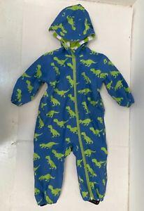 Hatley Blue Dinosaur Snowsuit All-In-One Rain Suit 18-24 Month  FREE P&P G194 A7