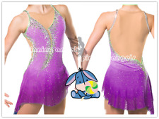 Purple Ice Figure Skating Dress/Dance/Baton Twirling costume Outfit Custom Made