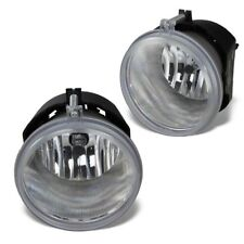 For  Clear Lens Chrome Housing Replacement Fog Lights Lamps