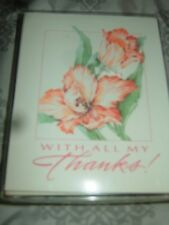 """New Vintage In Sealed Pkg.""""Thank You's""""- 10 Blank Cards & Env"""