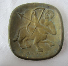 Antique bronze Centaur Shooter Zodiac sign bronze brass plate tray ashtray