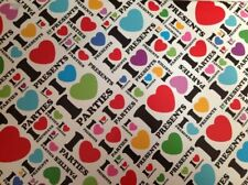 2 Sheets Gift Wrapping Paper I Love 3 Presents Happy Birthday Mens Ladies Kids