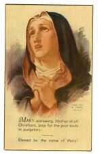 Vintage Catholic Holy Bible Prayer Card  Copyright 1937   Beautiful  Made in USA