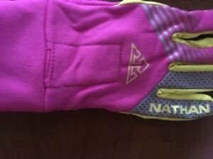 Nathan Bronco Women's  Running Gloves Pink/Yellow Medium NEW