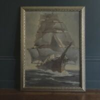 Clipper Ship - Michael Graves (Oil on Canvas, Framed)