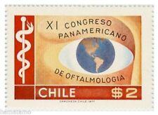Chile 1977 #911 XI Congreso Panamericano de Oftalmologia MNH