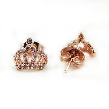 Fashion Jewelry - 18k Rose Gold Plated Crown Stud Earrings (FE446)