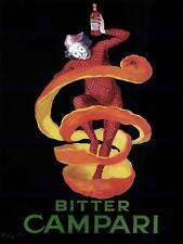 Pubblicità CAMPARI BITTER Pierrot Arlecchino alcol Cibo FRANCIA POSTER ART bb1711b