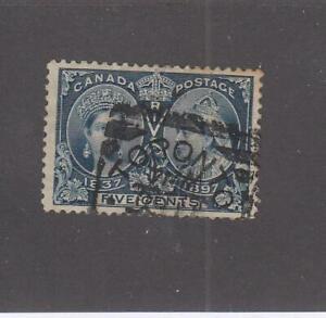 CANADA (MK5457) # 54  VF-USED  5cts  QV DIAMOND JUBILEE /DEEP BLUE CAT VALUE $60