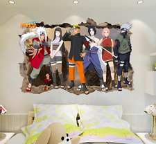Naruto Japanese Amine Comic 3D Window Wall Stickers Vinyl Decal Home Kids
