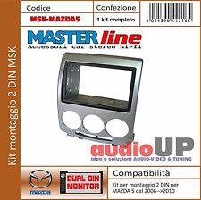MASCHERINA AUTORADIO 2 DIN MAZDA 5 DAL 2006 AL 2010. KIT DOPPIO DIN CON GABBIA.