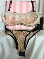 Victoria's Secret Ell & Cee Bra and Panty Set 36C / Small DESIGNER! RARE! NWT UK