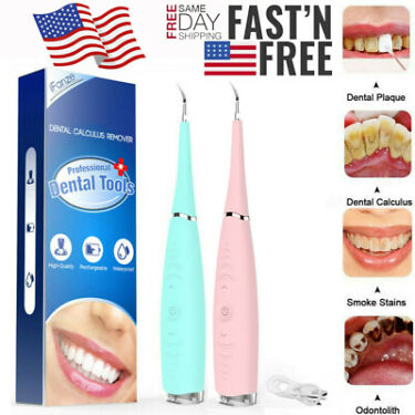 Electric Sonic Dental Tartar Scaler Plaque Remover Teeth Whitening Cleaning Tool