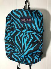 Jansport Superbreak Backpack Thr01S3 Black/Blue Mszebra Msrp $55