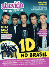 ONE DIRECTION HUGE POSTER MAGAZINE = Opens into a 82cm x 51cm Poster brazil RARE