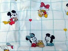 Vintage 1980's Disney Baby Mickey Minnie Dundee Cotton Flannel Receiving Blanket