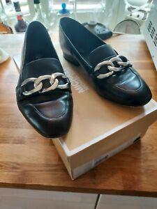 Michael Kors Black Vanessa Leather Loafer EU 36.5
