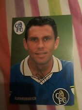Gus Poyet Chelsea Official Signed Photo Direct From The Training ground