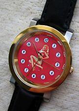 Armbanduhr Zifferblatt mit Pin up Girl  - ungetragen 59
