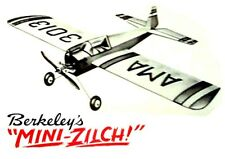 "Model Airplane Plans (UC): Berkeley MINI- ZILCH 20"" Stunt for .020-.049 (1949)"