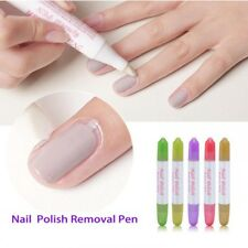 Nail Art UV Gel Polishing Remover Pen Edge Corrector Cleaner With 3 Replace Tips